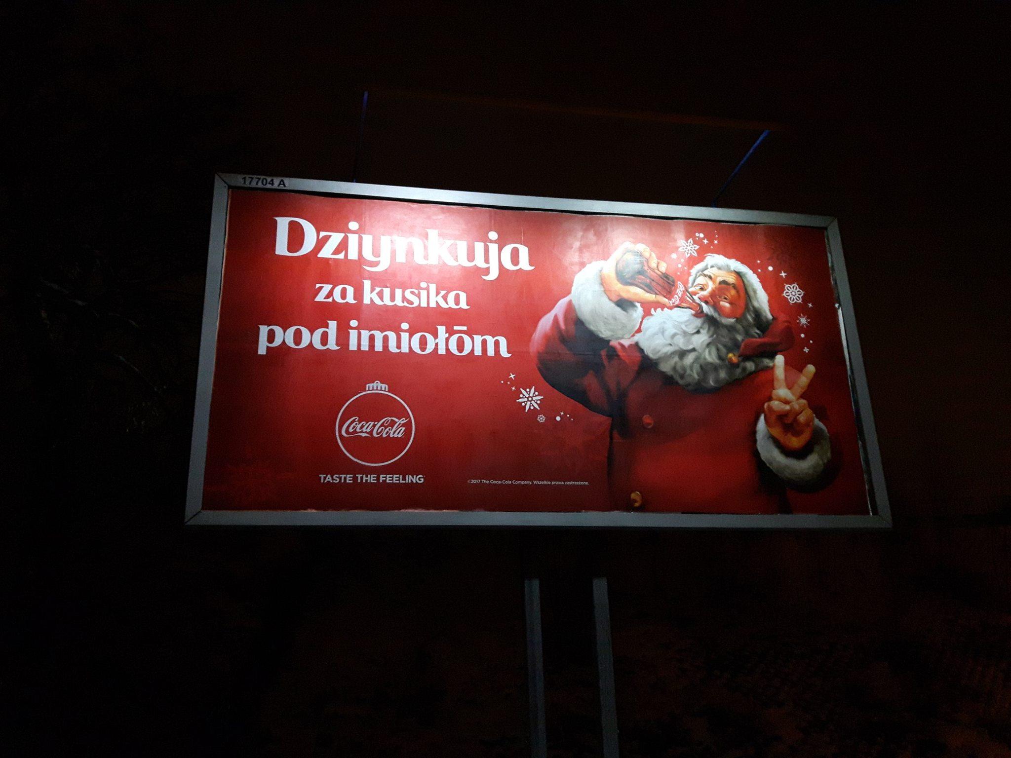 Kampania outdoorowa marki Coca-cola po śląsku